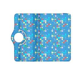 Colorful squares pattern Kindle Fire HDX 8.9  Flip 360 Case