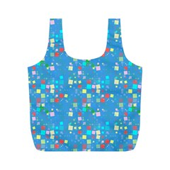 Colorful squares pattern Full Print Recycle Bag (M)