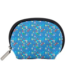 Colorful squares pattern Accessory Pouch (Small)