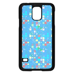 Colorful squares pattern Samsung Galaxy S5 Case (Black)
