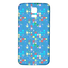 Colorful squares pattern Samsung Galaxy S5 Back Case (White)