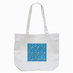 Colorful squares pattern Tote Bag (White)