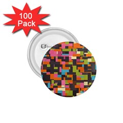 Colorful Pixels 1 75  Button (100 Pack)