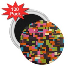 Colorful pixels 2.25  Magnet (100 pack)