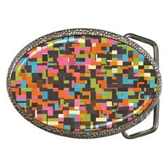 Colorful pixels Belt Buckle