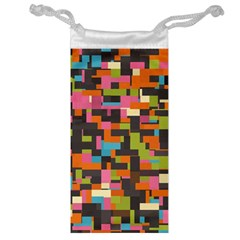 Colorful pixels Jewelry Bag