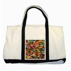 Colorful pixels Two Tone Tote Bag