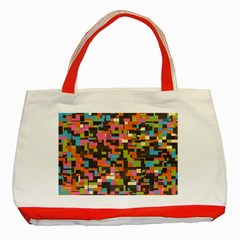 Colorful pixels Classic Tote Bag (Red)