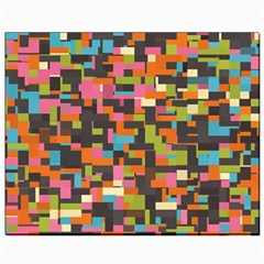 Colorful Pixels Canvas 8  X 10