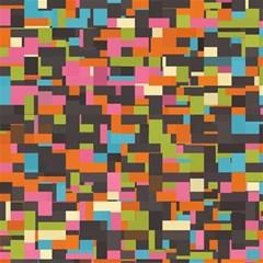 Colorful Pixels Canvas 12  X 12