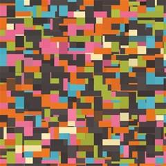 Colorful pixels Canvas 16  x 16