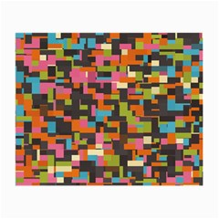Colorful Pixels Glasses Cloth (small, Two Sides)