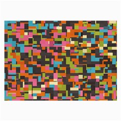 Colorful pixels Glasses Cloth (Large)
