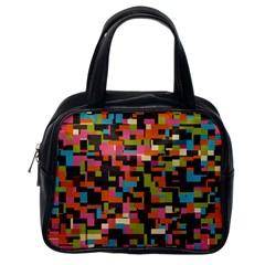 Colorful Pixels Classic Handbag (one Side)