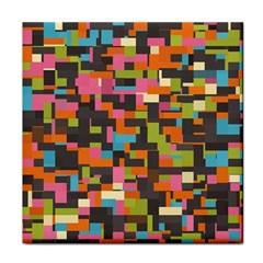 Colorful Pixels Face Towel