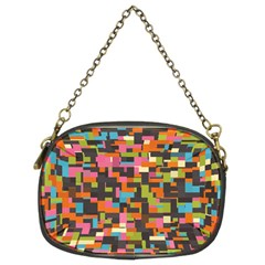 Colorful Pixels Chain Purse (two Sides)