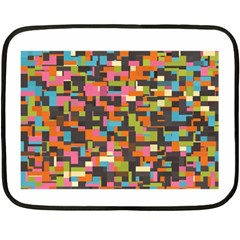 Colorful Pixels Double Sided Fleece Blanket (mini)
