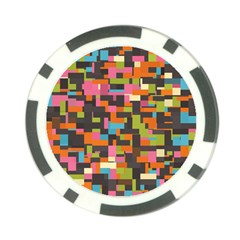 Colorful Pixels Poker Chip Card Guard (10 Pack)