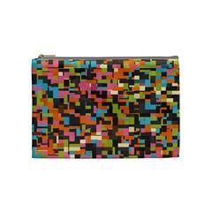 Colorful Pixels Cosmetic Bag (medium)