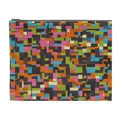 Colorful Pixels Cosmetic Bag (xl)