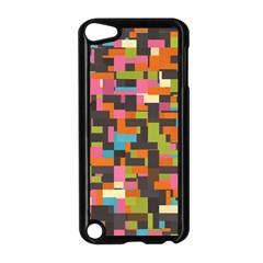 Colorful pixels Apple iPod Touch 5 Case (Black)