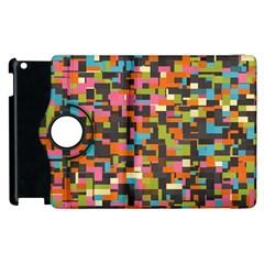 Colorful Pixels Apple Ipad 3/4 Flip 360 Case