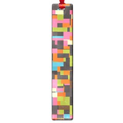 Colorful pixels Large Book Mark
