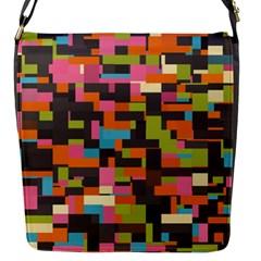 Colorful Pixels Flap Closure Messenger Bag (small)