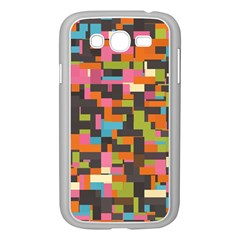 Colorful pixels Samsung Galaxy Grand DUOS I9082 Case (White)