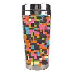 Colorful pixels Stainless Steel Travel Tumbler