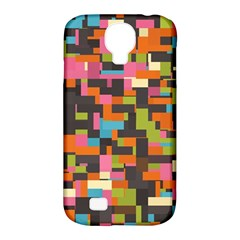 Colorful Pixels Samsung Galaxy S4 Classic Hardshell Case (pc+silicone)