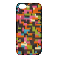 Colorful Pixels Apple Iphone 5c Hardshell Case