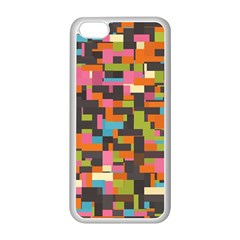 Colorful pixels Apple iPhone 5C Seamless Case (White)