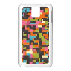 Colorful pixels Samsung Galaxy Note 3 N9005 Case (White)
