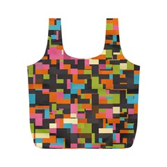 Colorful Pixels Full Print Recycle Bag (m)