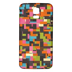 Colorful pixels Samsung Galaxy S5 Back Case (White)