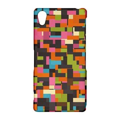 Colorful pixels Sony Xperia Z2 Hardshell Case