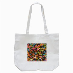 Colorful pixels Tote Bag (White)