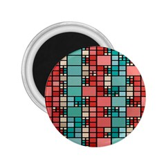 Red And Green Squares 2 25  Magnet