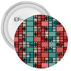 Red And Green Squares 3  Button