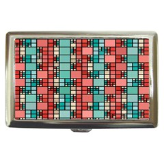 Red And Green Squares Cigarette Money Case