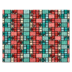 Red and green squares Jigsaw Puzzle (Rectangular)