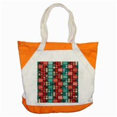 Red and green squares Accent Tote Bag