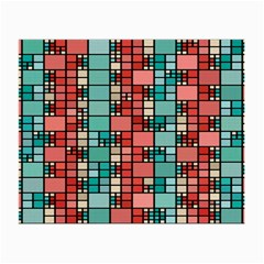 Red And Green Squares Glasses Cloth (small, Two Sides)