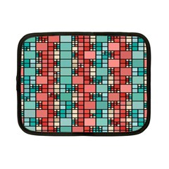 Red And Green Squares Netbook Case (small)