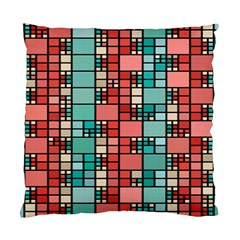 Red And Green Squares Cushion Case (two Sides)