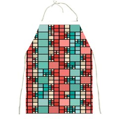 Red and green squares Full Print Apron