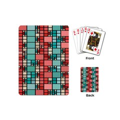 Red And Green Squares Playing Cards (mini)
