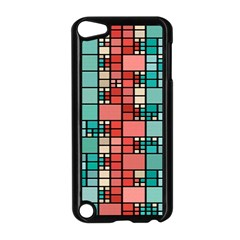 Red And Green Squares Apple Ipod Touch 5 Case (black)