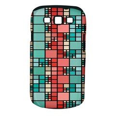 Red and green squares Samsung Galaxy S III Classic Hardshell Case (PC+Silicone)